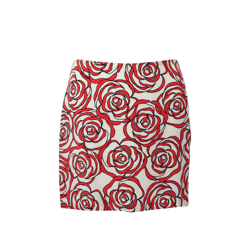 Hutch Red Rose Print Mini Skirt Size 10 Muse Boutique Outlet | Shop Designer Clearance Skirts on Sale | Up to 90% Off Designer Fashion