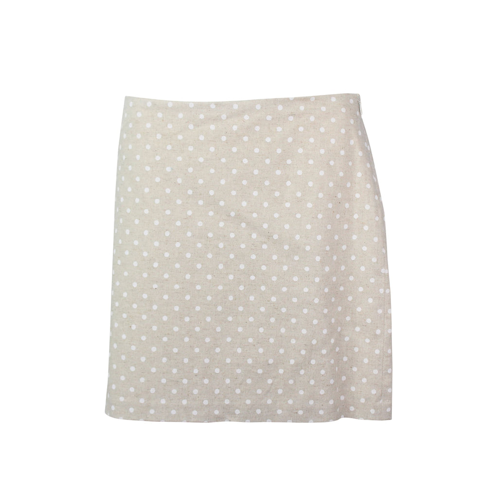 Hutch Nude Polka Dot Mini Skirt Size 6 Muse Boutique Outlet | Shop Designer Clearance Skirts on Sale | Up to 90% Off Designer Fashion