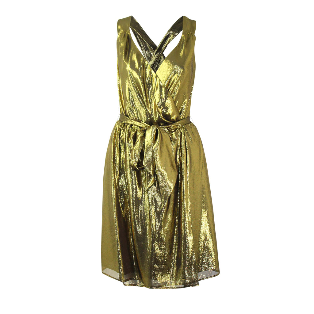 Leona by Lauren Leonard  Gold Shimmer Cocktail Dress Size  Muse Boutique Outlet | Shop Designer Clearance Dresses on Sale | Up to 90% Off Designer Fashion