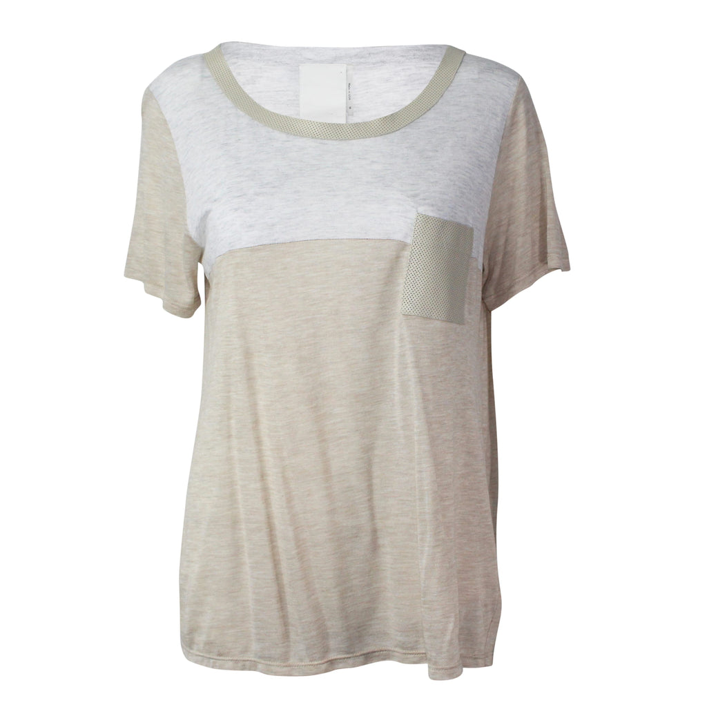HEATHER Almond Heather Tee Size Large Muse Boutique Outlet | Shop Designer Clearance Tops on Sale | Up to 90% Off Designer Fashion