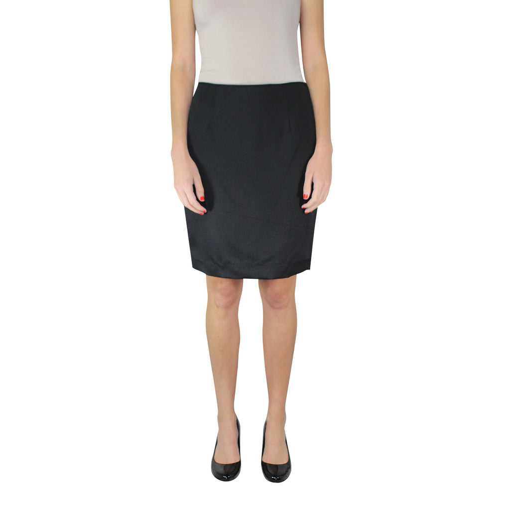 Leona by Lauren Leonard Black Black Pique Pencil Skirt Size 2 Muse Boutique Outlet | Shop Designer Clearance Skirts on Sale | Up to 90% Off Designer Fashion