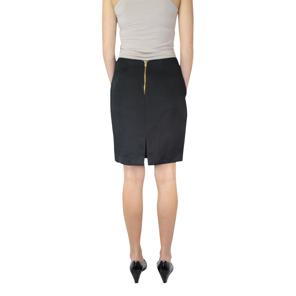 Leona by Lauren Leonard  Black Pique Pencil Skirt Size  Muse Boutique Outlet | Shop Designer Clearance Skirts on Sale | Up to 90% Off Designer Fashion