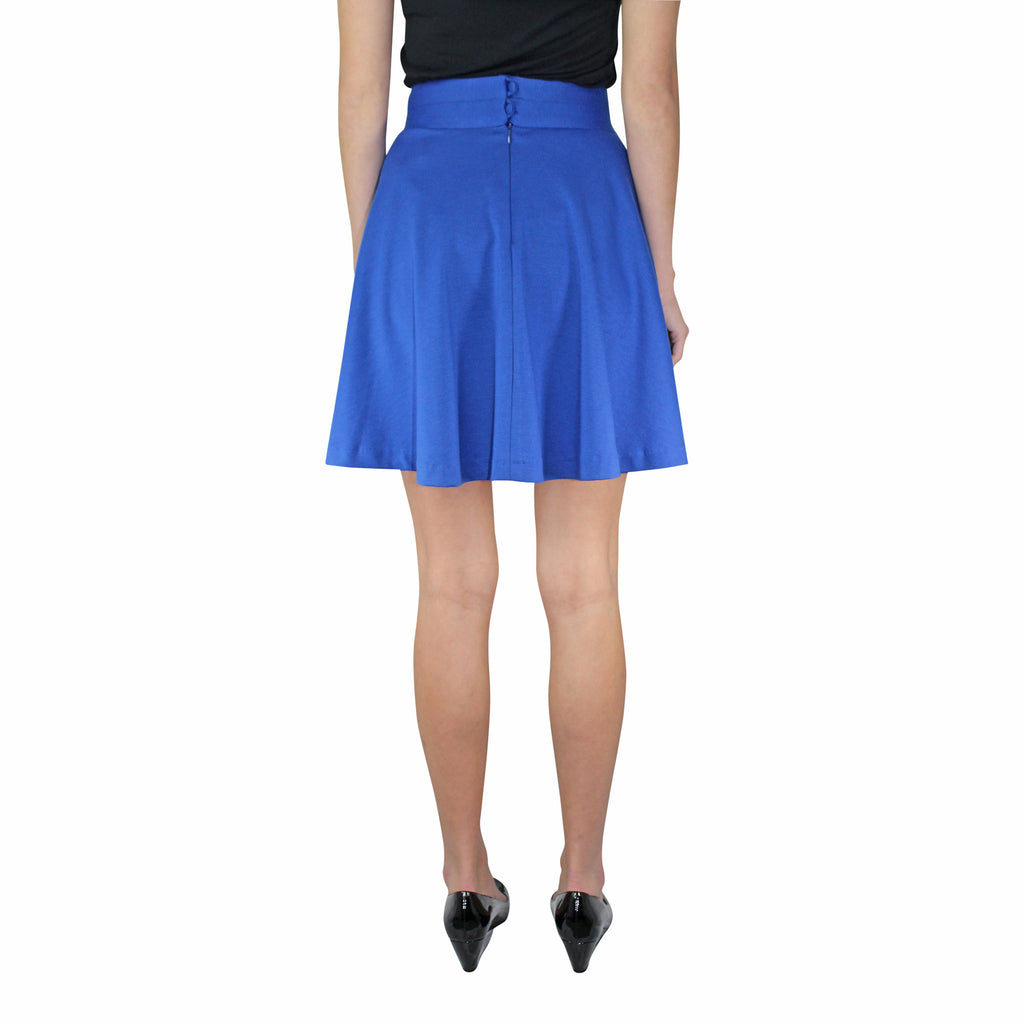 Leona by Lauren Leonard  Royal Blue A-line Knit Skirt Size  Muse Boutique Outlet | Shop Designer Clearance Skirts on Sale | Up to 90% Off Designer Fashion