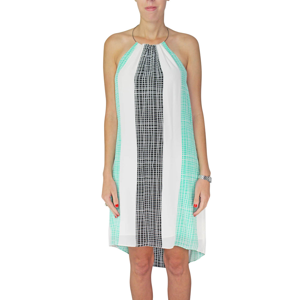 Leona by Lauren Leonard Seafoam Printed Silk Dress Size 2 Muse Boutique Outlet | Shop Designer Clearance Dresses on Sale | Up to 90% Off Designer Fashion