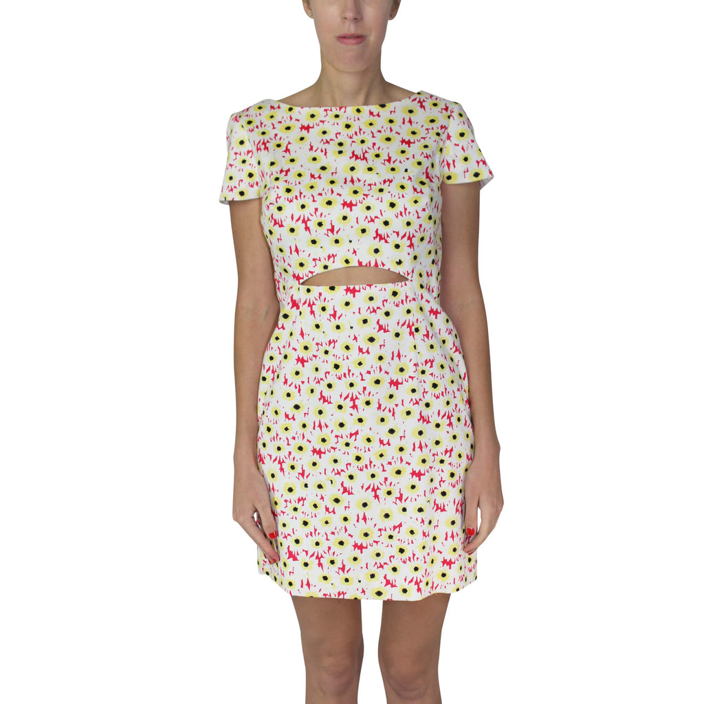 Leona by Lauren Leonard Cherry Daisy Printed Cotton Cutout Dress Size 0 Muse Boutique Outlet | Shop Designer Clearance Dresses on Sale | Up to 90% Off Designer Fashion