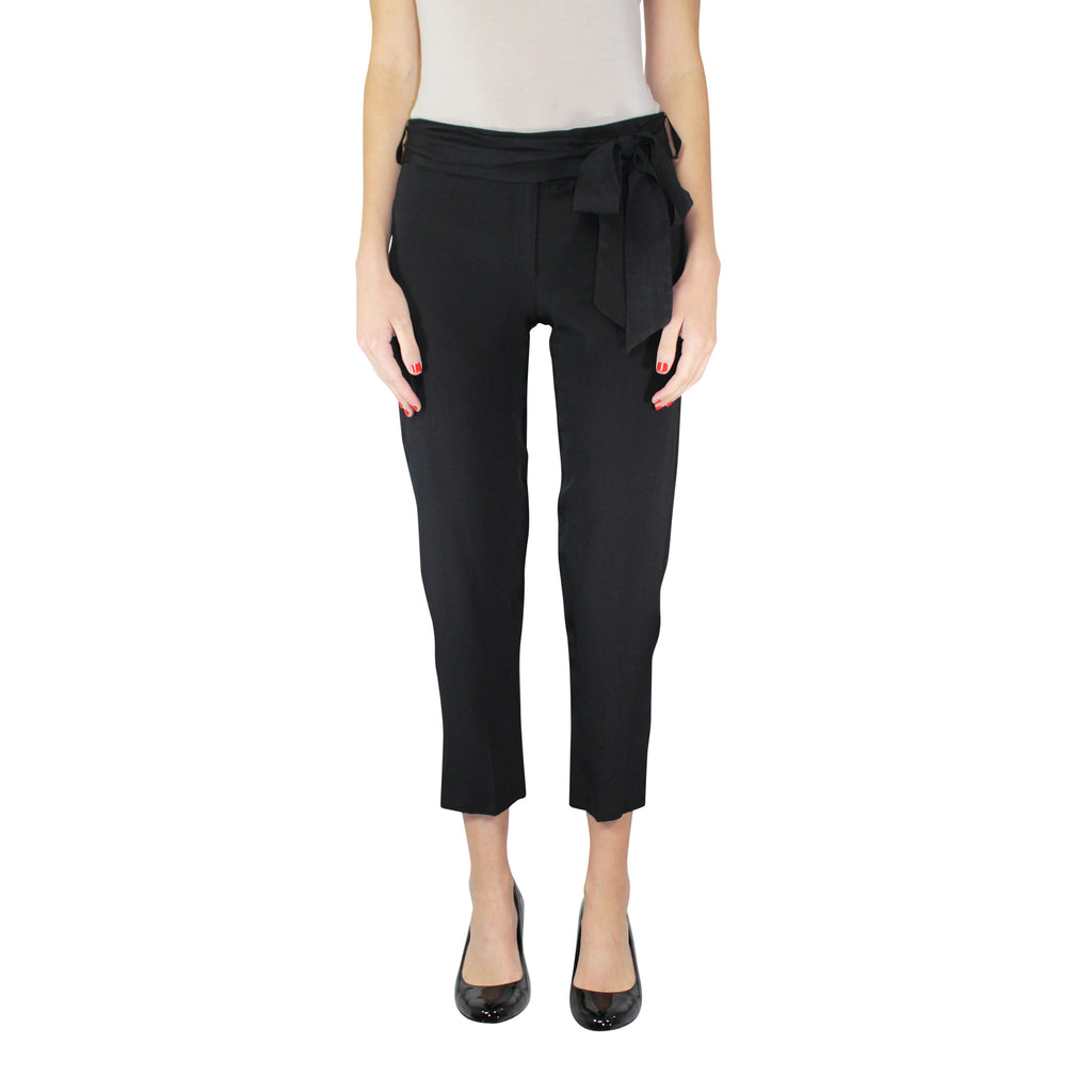Leona by Lauren Leonard Black Silk Dot Pant Size 4 Muse Boutique Outlet | Shop Designer Clearance Bottoms on Sale | Up to 90% Off Designer Fashion