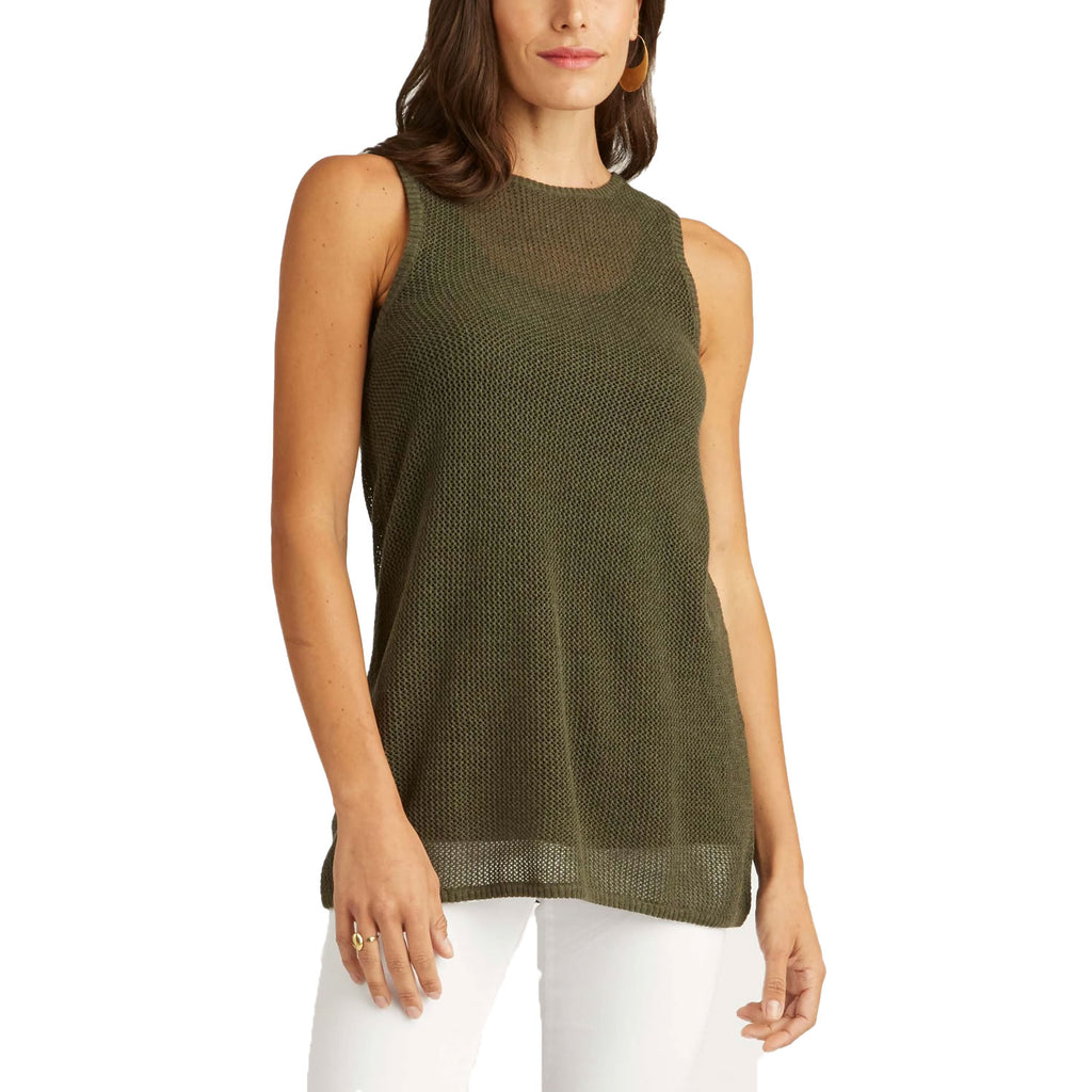Indigenous Moss Mesh Tank Size Large Muse Boutique Outlet | Shop Designer Clearance Tops on Sale | Up to 90% Off Designer Fashion