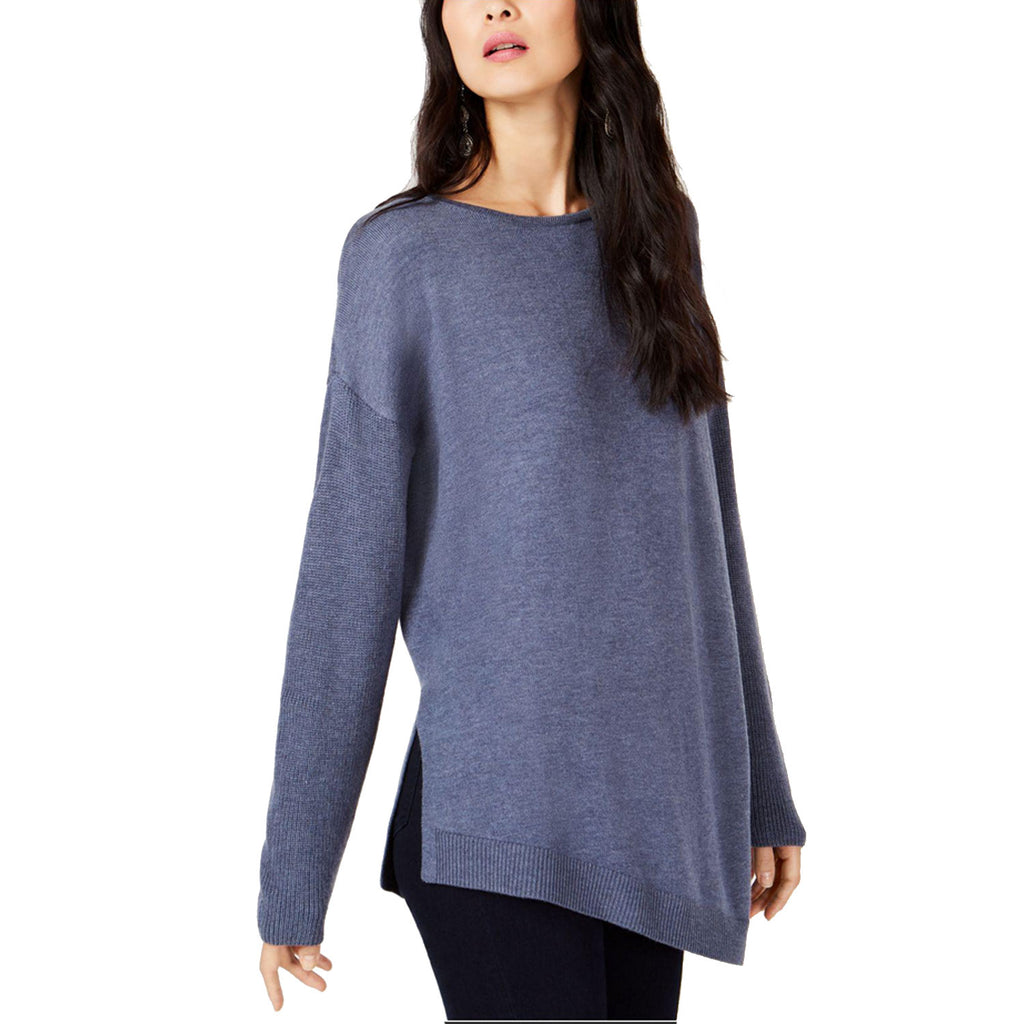 I.N.C Heather Blue Asymmetrical Tunic Sweater Size Small Muse Boutique Outlet | Shop Designer Sweaters on Sale | Up to 90% Off Designer Fashion