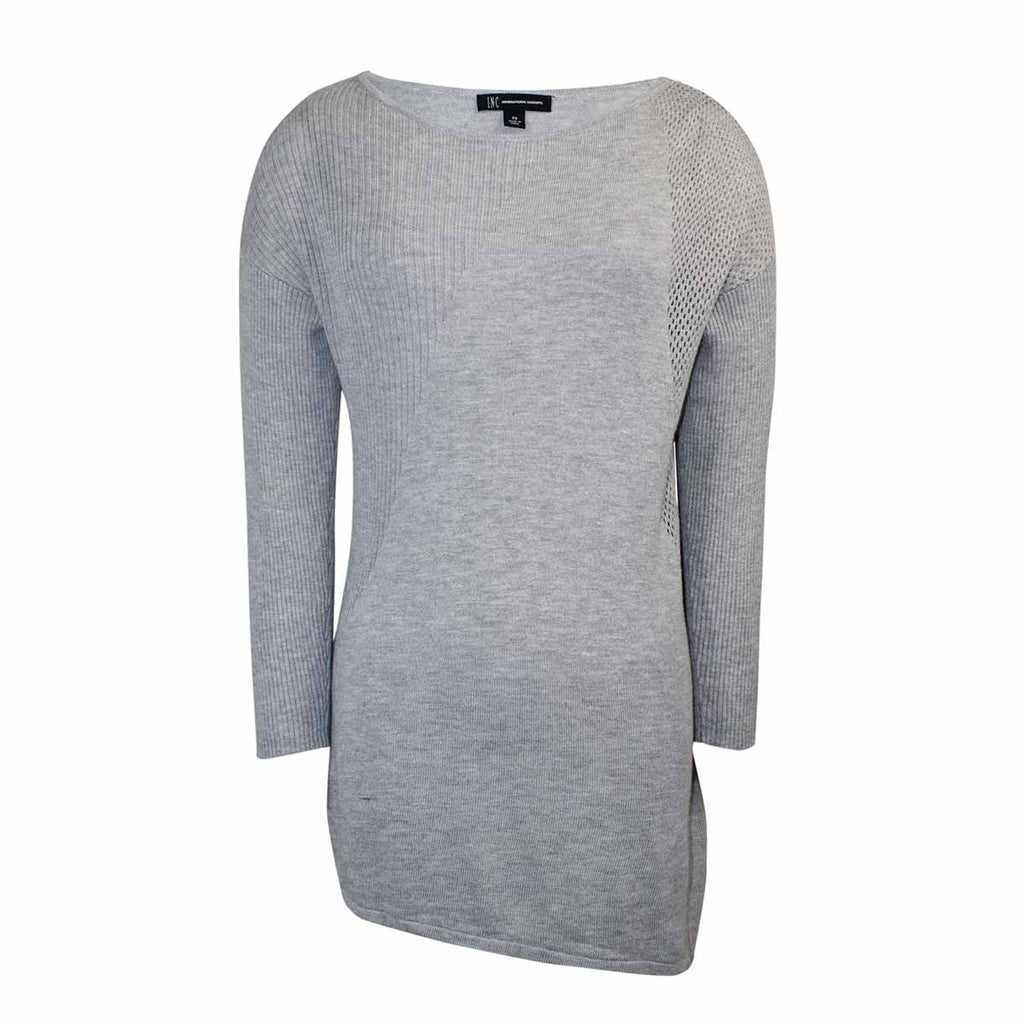 INC Grey Asymmetrical Hem Sweater Size Large Muse Boutique Outlet | Shop Designer Sweaters on Sale | Up to 90% Off Designer Fashion