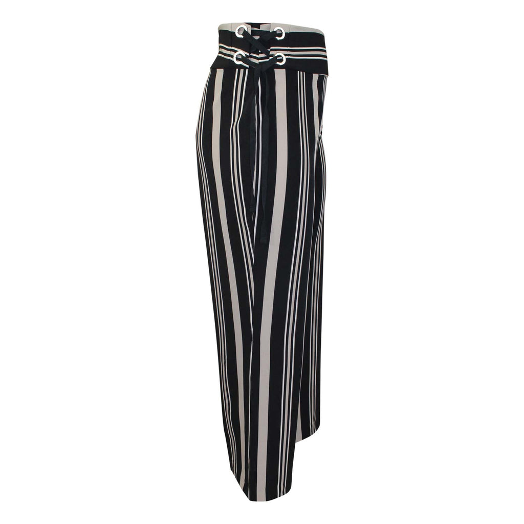 I.N.C  Striped Grommet Wide Leg Pants Size  Muse Boutique Outlet | Shop Designer Pant on Sale | Up to 90% Off Designer Fashion
