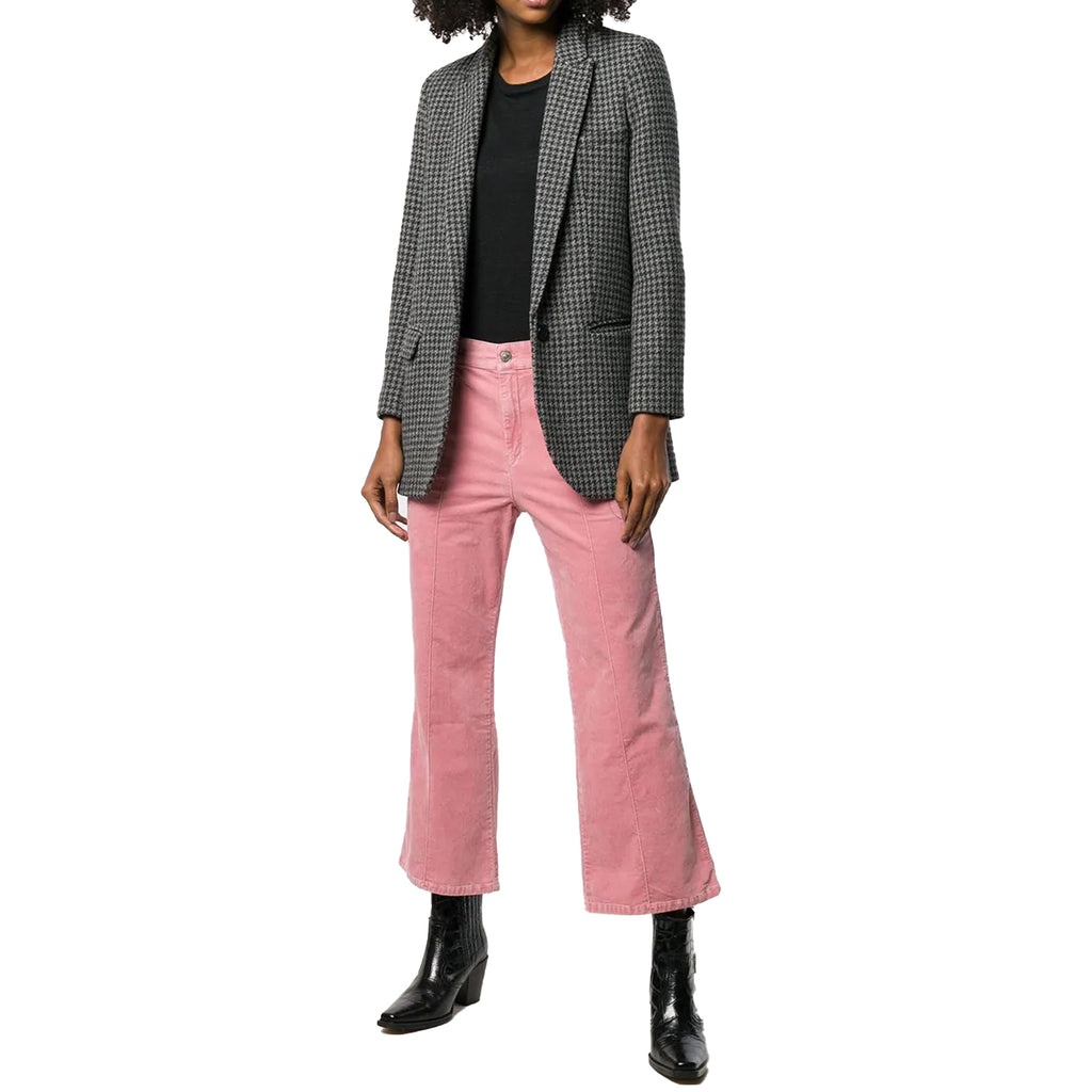 Isabel Marant Etoile Pink Anyree Cropped Velvet Trousers Size 34 Muse Boutique Outlet | Shop Designer Pant on Sale | Up to 90% Off Designer Fashion