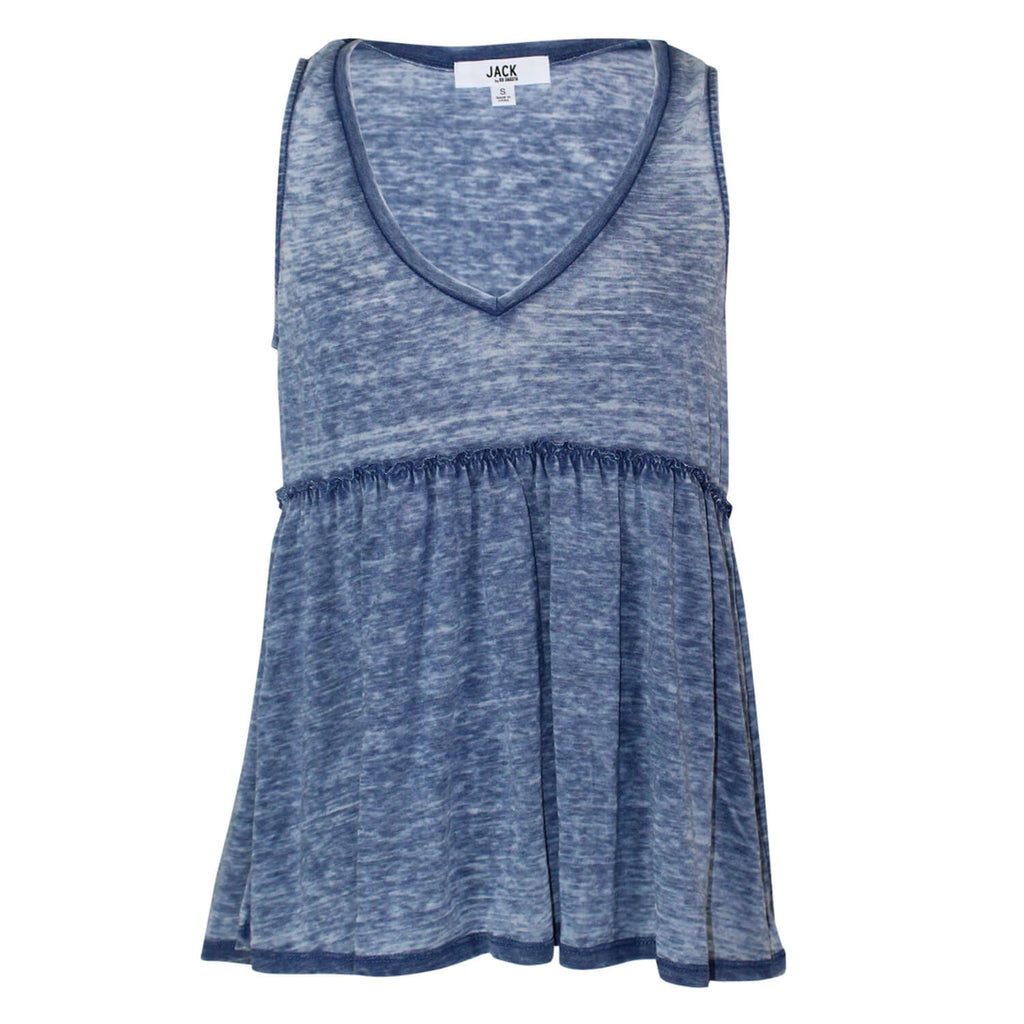 Jack by BB Dakota Blue Burnout Jersey Tank Size Small Muse Boutique Outlet | Shop Designer Sleeveless Tops on Sale | Up to 90% Off Designer Fashion