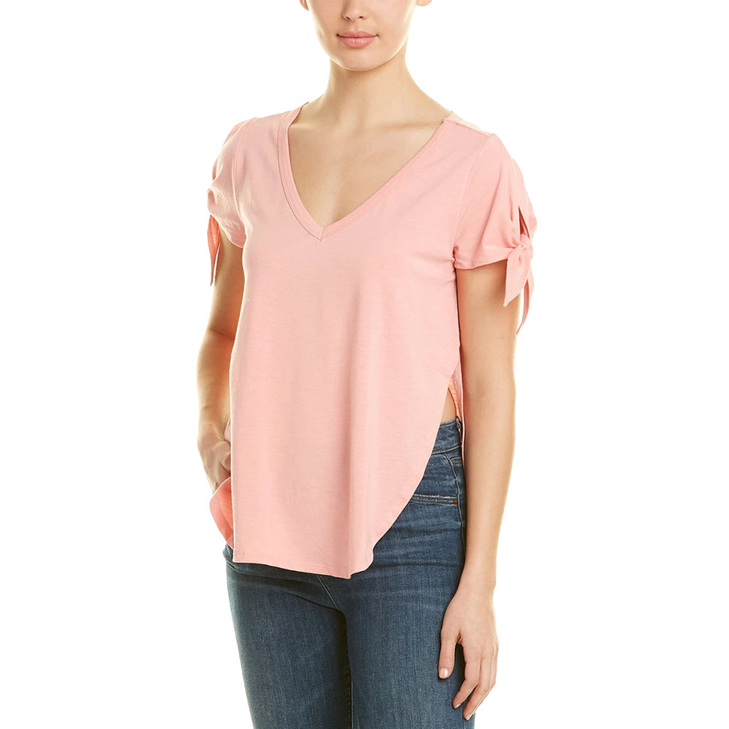 Jack by BB Dakota Pink Kamila Tie Sleeve Knit Top Size Extra Large Muse Boutique Outlet | Shop Designer Short Sleeve Tops on Sale | Up to 90% Off Designer Fashion