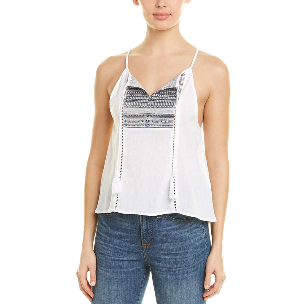 Jack by BB Dakota White Brynlee Embroidered Tank Size Large Muse Boutique Outlet | Shop Designer Sleeveless Tops on Sale | Up to 90% Off Designer Fashion