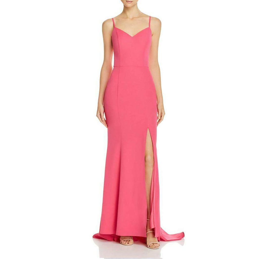 Jarlo Fuchsia Pink Xene Column Gown Size Small Muse Boutique Outlet | Shop Designer Dresses on Sale | Up to 90% Off Designer Fashion