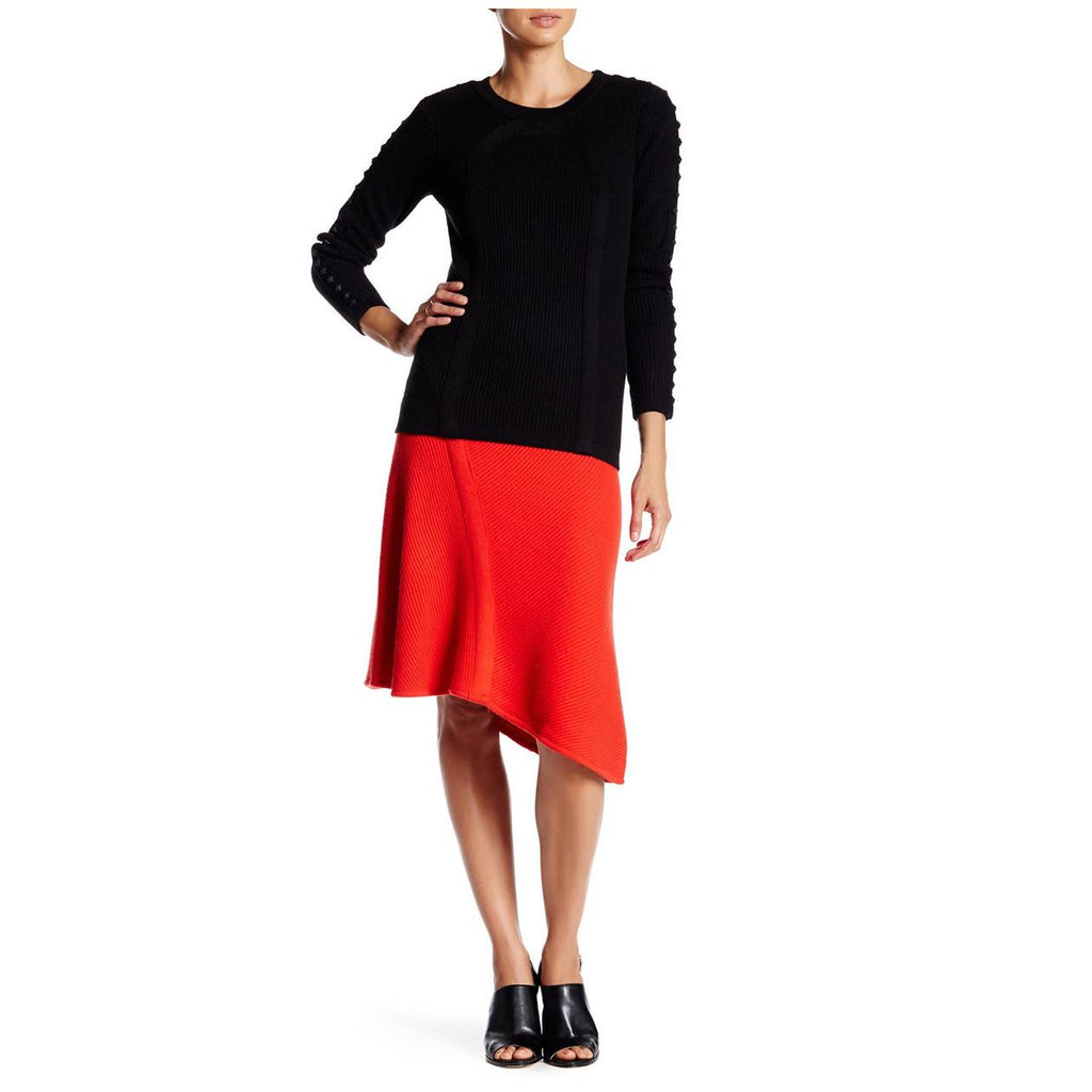 Tracy Reese Maasai Red Flared Knit Skirt Size Medium Muse Boutique Outlet | Shop Designer Clearance Skirts on Sale | Up to 90% Off Designer Fashion