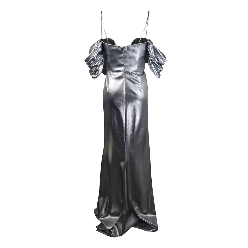 J Mendel  Metallic Off-Shoulder Gown Size  Muse Boutique Outlet | Shop Designer Evening/Cocktail on Sale | Up to 90% Off Designer Fashion