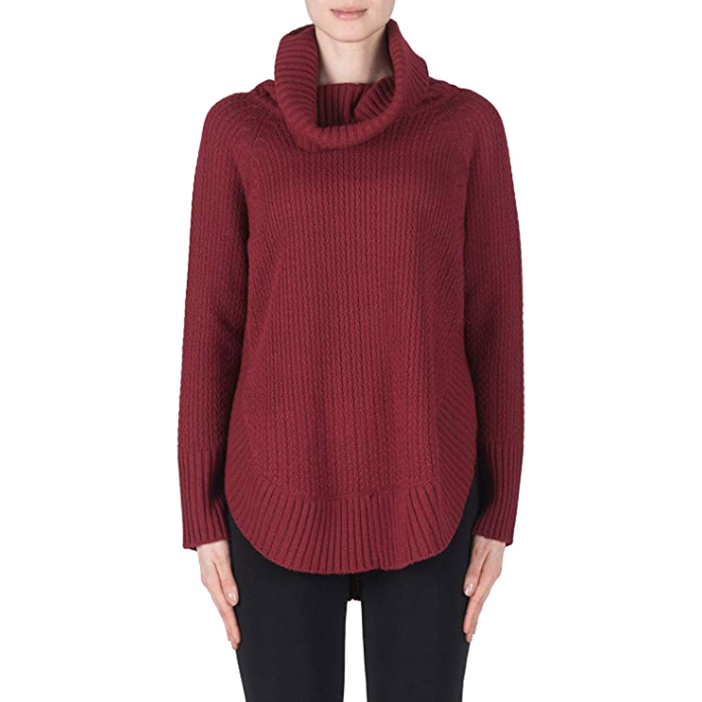 Joseph Ribkoff Wine Turtleneck Sweater Size Small Muse Boutique Outlet | Shop Designer Sweaters on Sale | Up to 90% Off Designer Fashion