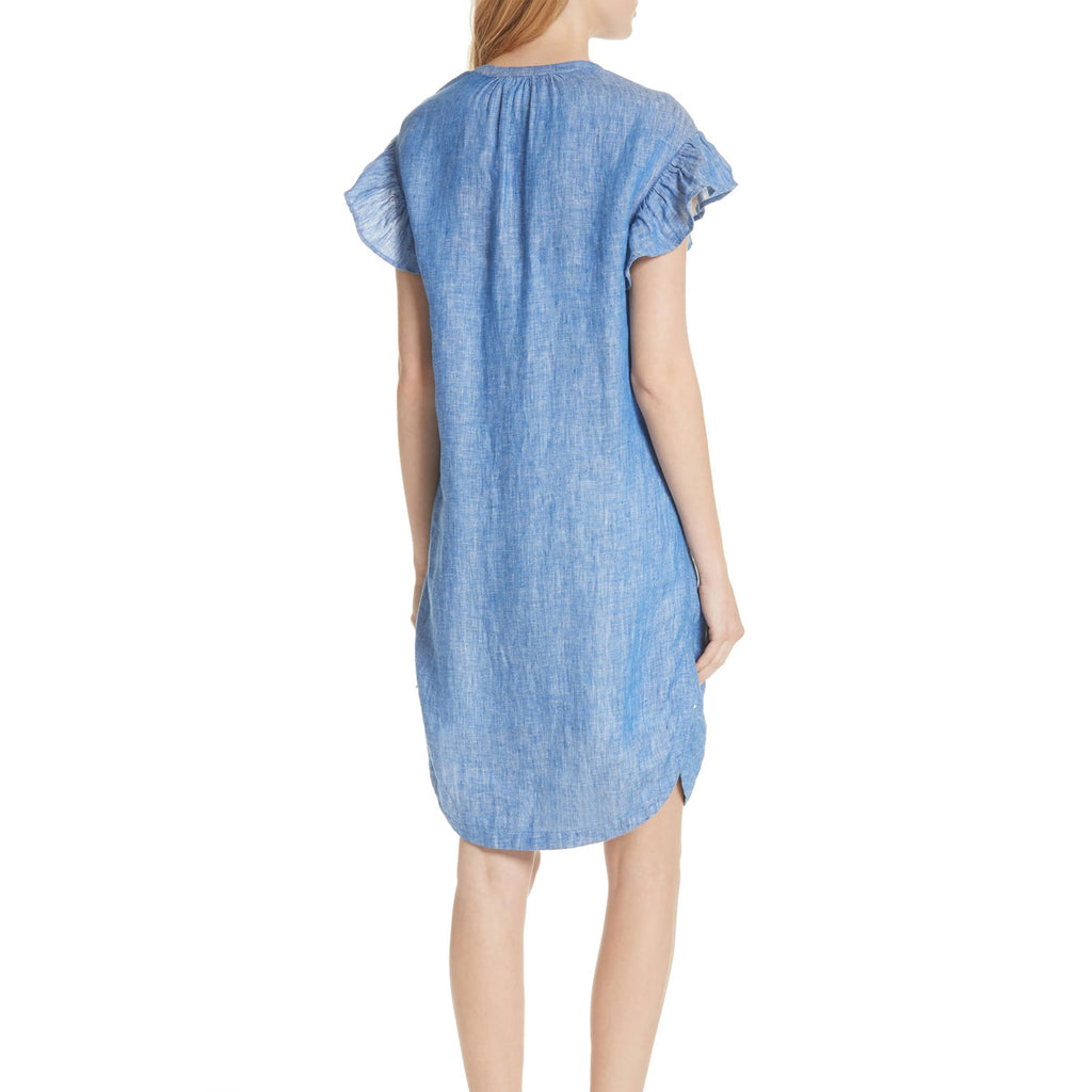 Joie  Fermina Ruffle Sleeve Linen Dress Size  Muse Boutique Outlet | Shop Designer Dresses on Sale | Up to 90% Off Designer Fashion