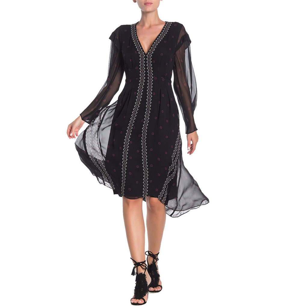 Joie Caviar Jamya Printed Long Sleeve Dress Size 6 Muse Boutique Outlet | Shop Designer Dresses on Sale | Up to 90% Off Designer Fashion