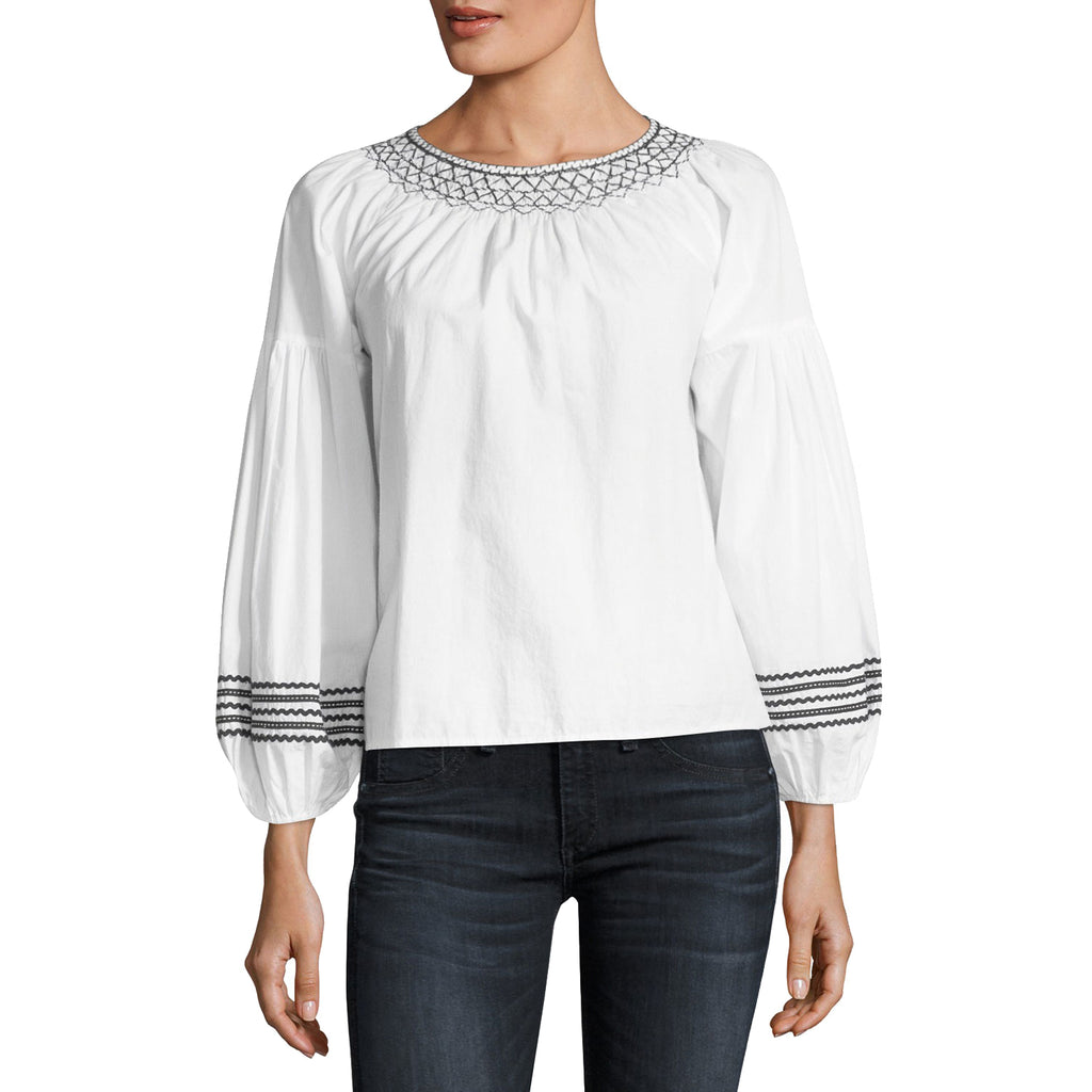 Joie Clean White Ghada Embroidered Long Sleeve Blouse Size Extra Small Muse Boutique Outlet | Shop Designer Long Sleeve Tops on Sale | Up to 90% Off Designer Fashion