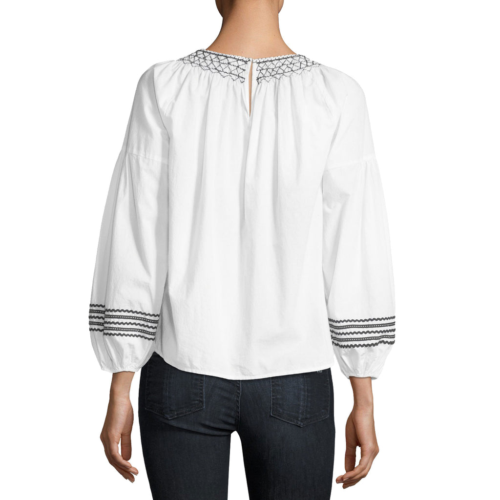 Joie  Ghada Embroidered Long Sleeve Blouse Size  Muse Boutique Outlet | Shop Designer Long Sleeve Tops on Sale | Up to 90% Off Designer Fashion