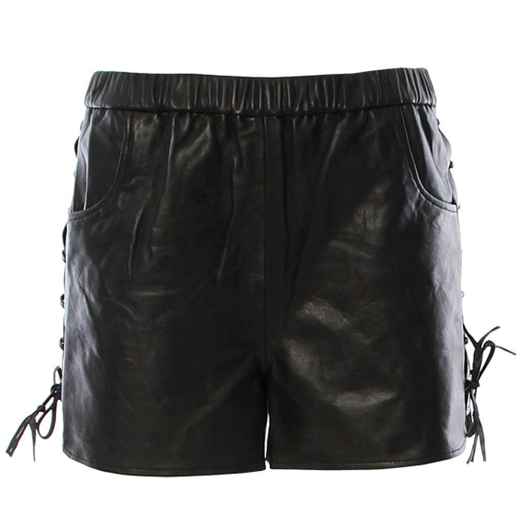 Karina Grimaldi Black Claudia Leather Shorts Size Small Muse Boutique Outlet | Shop Designer Shorts on Sale | Up to 90% Off Designer Fashion