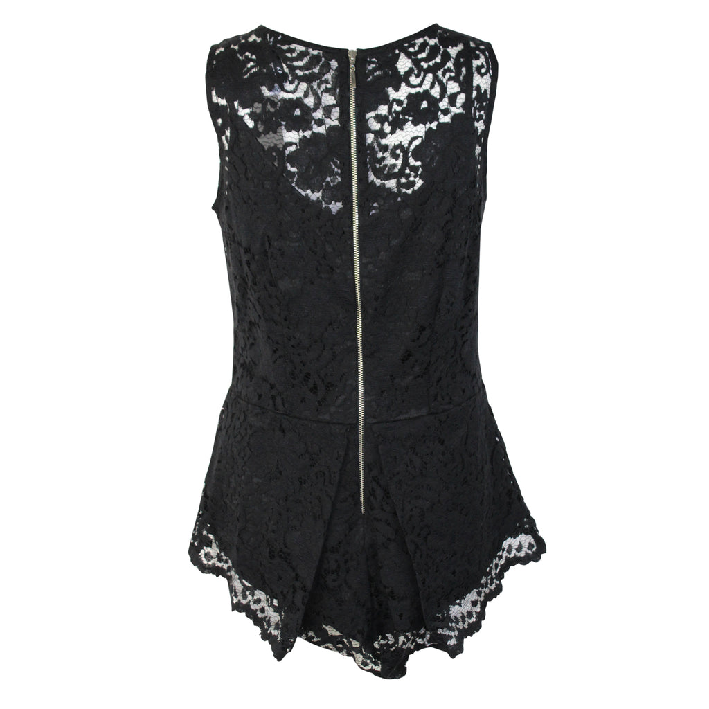 Kay Celine  Lace Peplum Tank Size  Muse Boutique Outlet | Shop Designer Clearance Tops on Sale | Up to 90% Off Designer Fashion