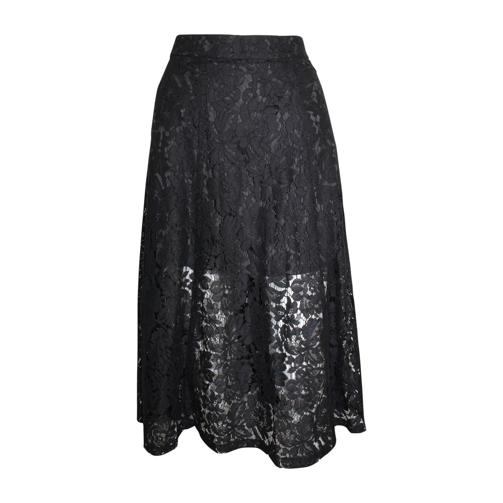 Karina Grimaldi Black Emily Lace Skirt Size Extra Small Muse Boutique Outlet | Shop Designer Clearance Skirts on Sale | Up to 90% Off Designer Fashion