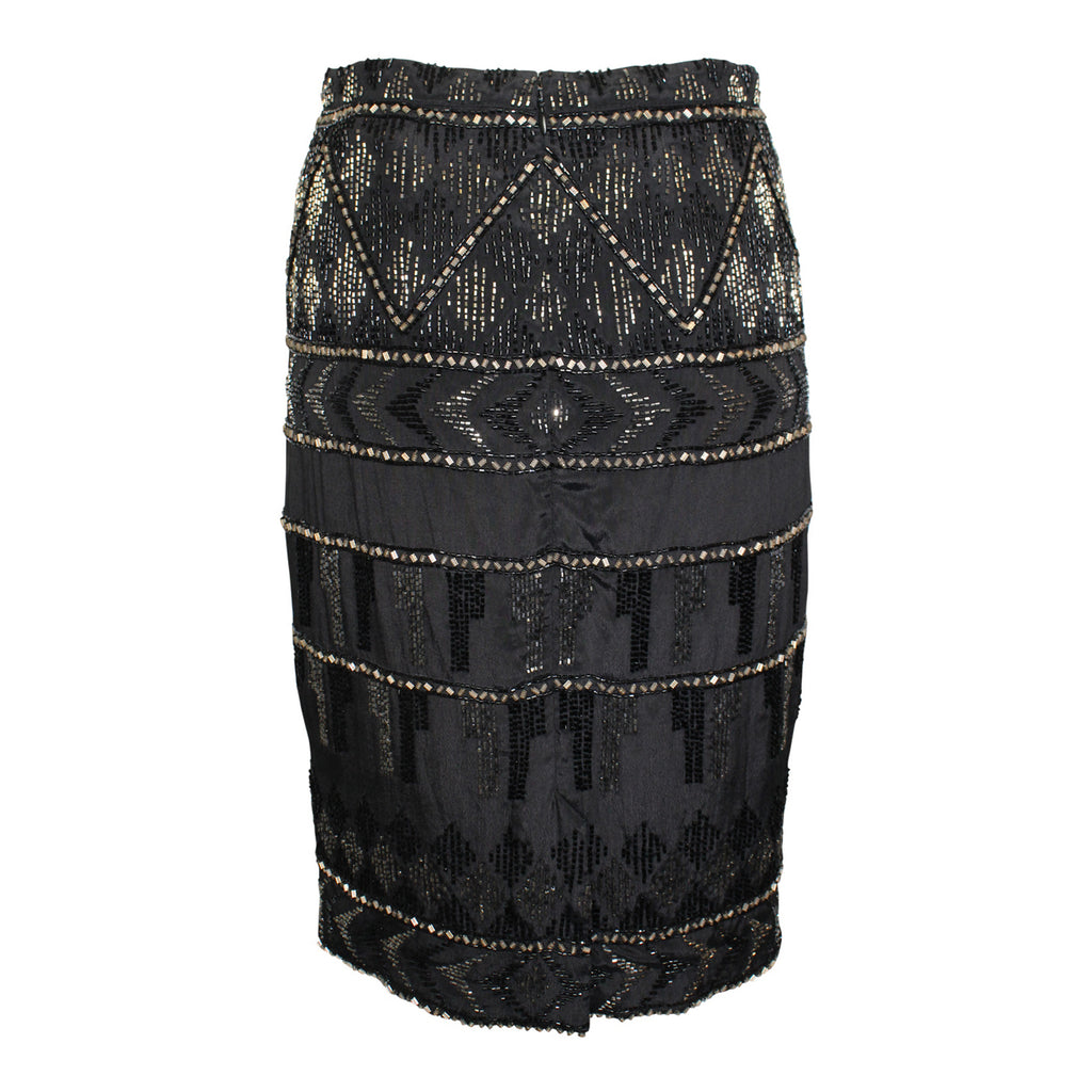 Karina Grimaldi  Kiara Beaded Skirt Size  Muse Boutique Outlet | Shop Designer Clearance Skirts on Sale | Up to 90% Off Designer Fashion