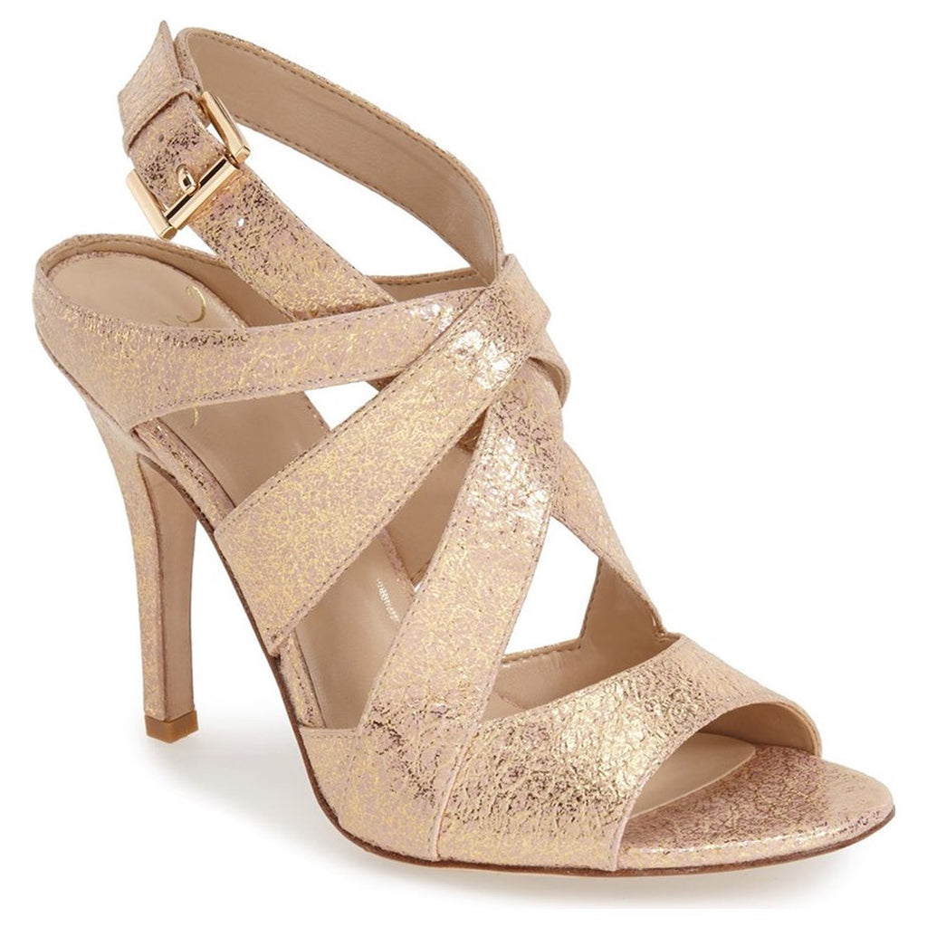 Kay Unger 'Phoebe Collection' Gold/Pink Multi Sussex Sandal Size 7.5 Muse Boutique Outlet | Shop Designer Clearance Shoes on Sale | Up to 90% Off Designer Fashion