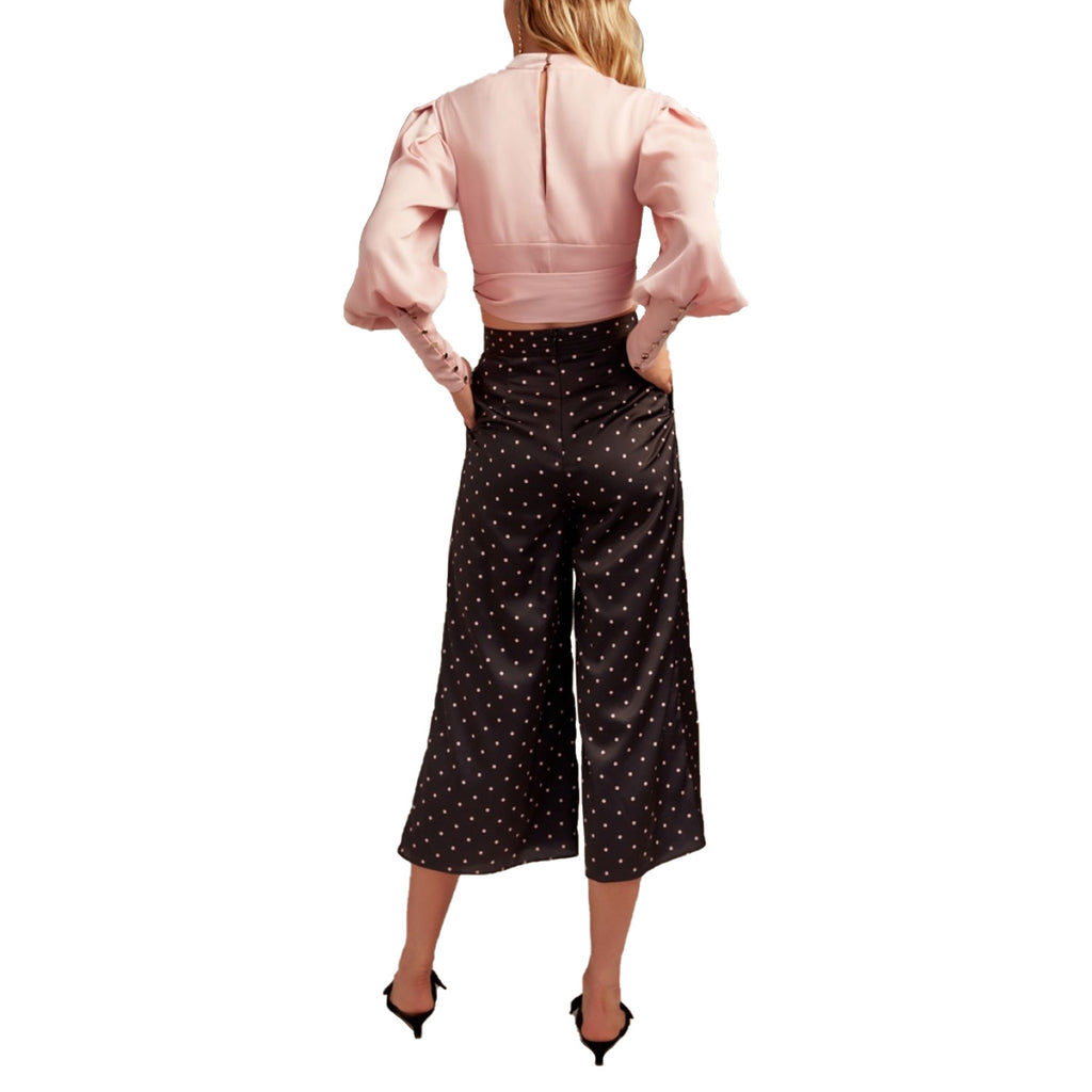 Keepsake  Polka Dot Cropped Wide Leg Pant Size  Muse Boutique Outlet | Shop Designer Clearance Bottoms on Sale | Up to 90% Off Designer Fashion