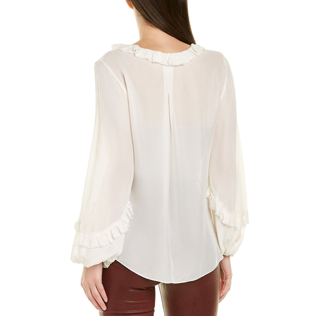 Kobi Halperin  Angie Ruffle Blouse Size  Muse Boutique Outlet | Shop Designer Long Sleeve Tops on Sale | Up to 90% Off Designer Fashion