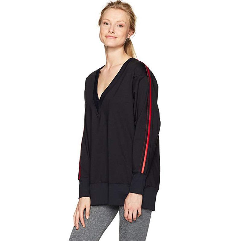 Koral Black & Scarlett Axis Deep V Pullover Size Extra Small Muse Boutique Outlet | Shop Designer Activewear on Sale | Up to 90% Off Designer Fashion