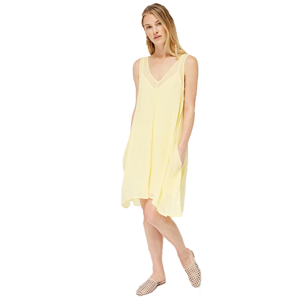 Lacausa Chamomile Daffodil Pocket Tank Dress Size Small Muse Boutique Outlet | Shop Designer Dresses on Sale | Up to 90% Off Designer Fashion