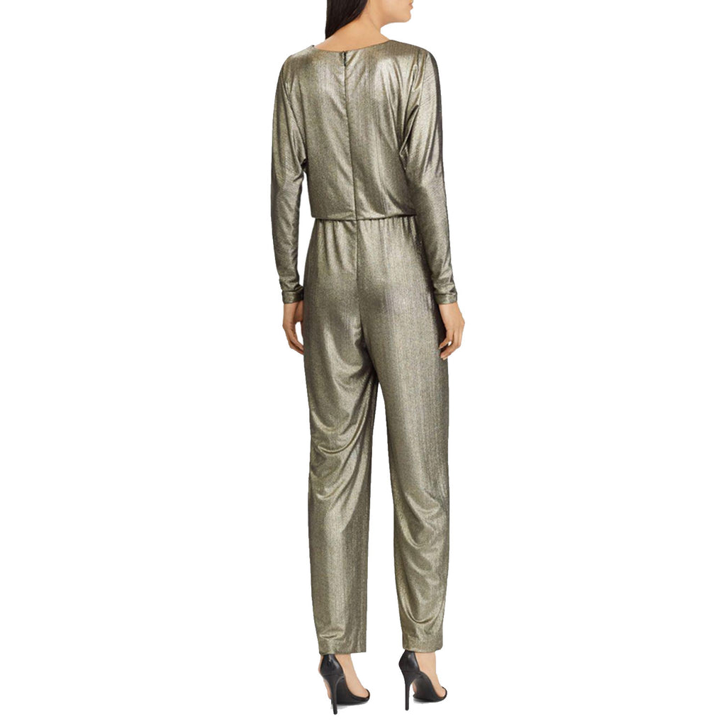 Lauren By Ralph lauren  Metallic Long Sleeve Jumpsuit Size  Muse Boutique Outlet | Shop Designer Rompers & Jumpsuits on Sale | Up to 90% Off Designer Fashion