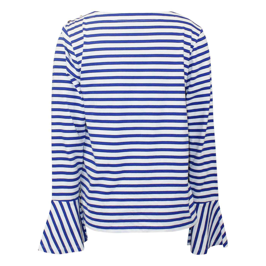Lauren By Ralph lauren  Adelaide Striped Top Size  Muse Boutique Outlet | Shop Designer Clearance Tops on Sale | Up to 90% Off Designer Fashion