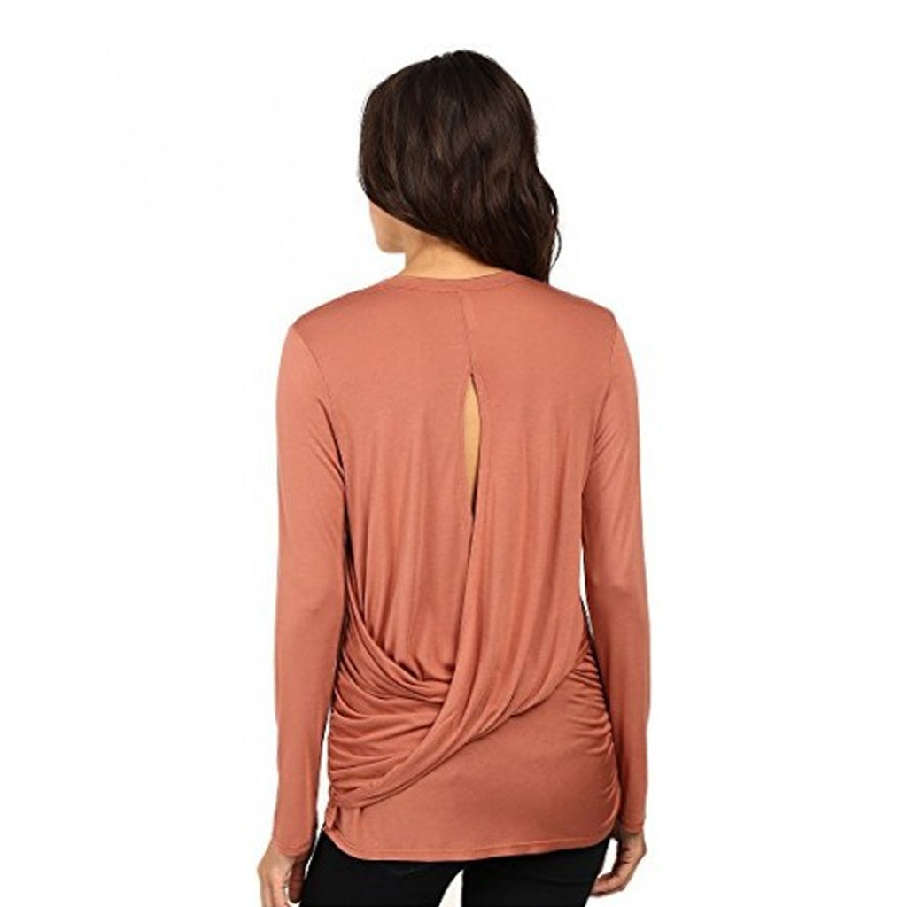 Lanston  Twist Back Long Sleeve Top Size  Muse Boutique Outlet | Shop Designer Clearance Tops on Sale | Up to 90% Off Designer Fashion