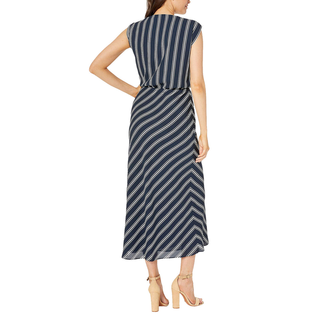 Lauren Ralph Lauren  Striped Georgette Maxi Dress Size  Muse Boutique Outlet | Shop Designer Dresses on Sale | Up to 90% Off Designer Fashion