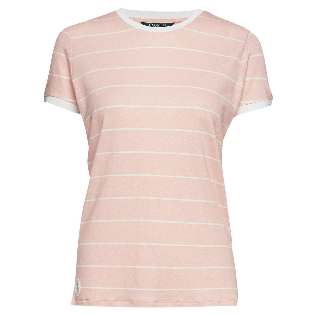 Lauren Ralph Lauren Primrose Striped Tee Size Small Muse Boutique Outlet | Shop Designer Short Sleeve Tops on Sale | Up to 90% Off Designer Fashion