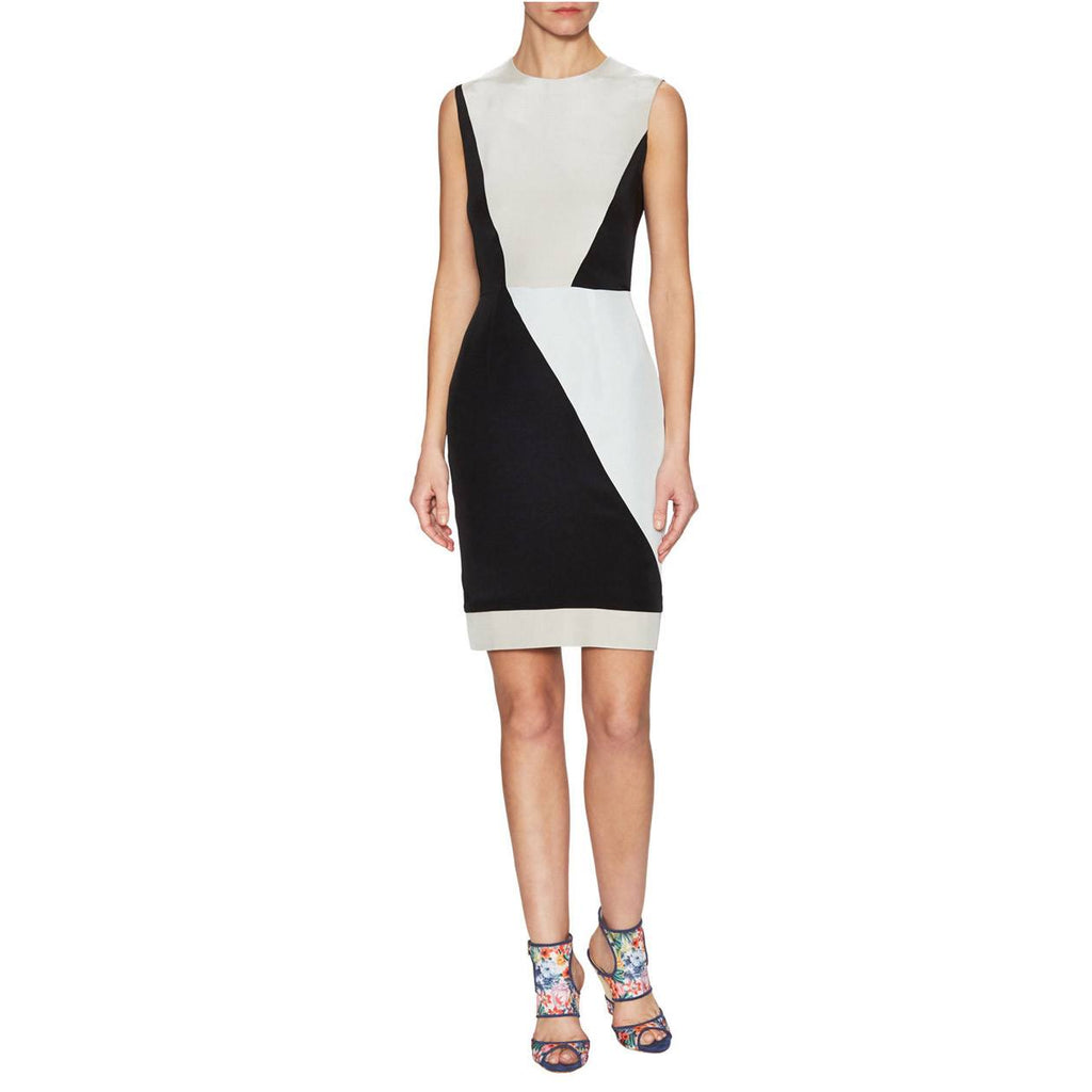 Hunter Bell Mint/Black/Grey Colorblock Silk Sheath Dress Size 0 Muse Boutique Outlet | Shop Designer Clearance Dresses on Sale | Up to 90% Off Designer Fashion