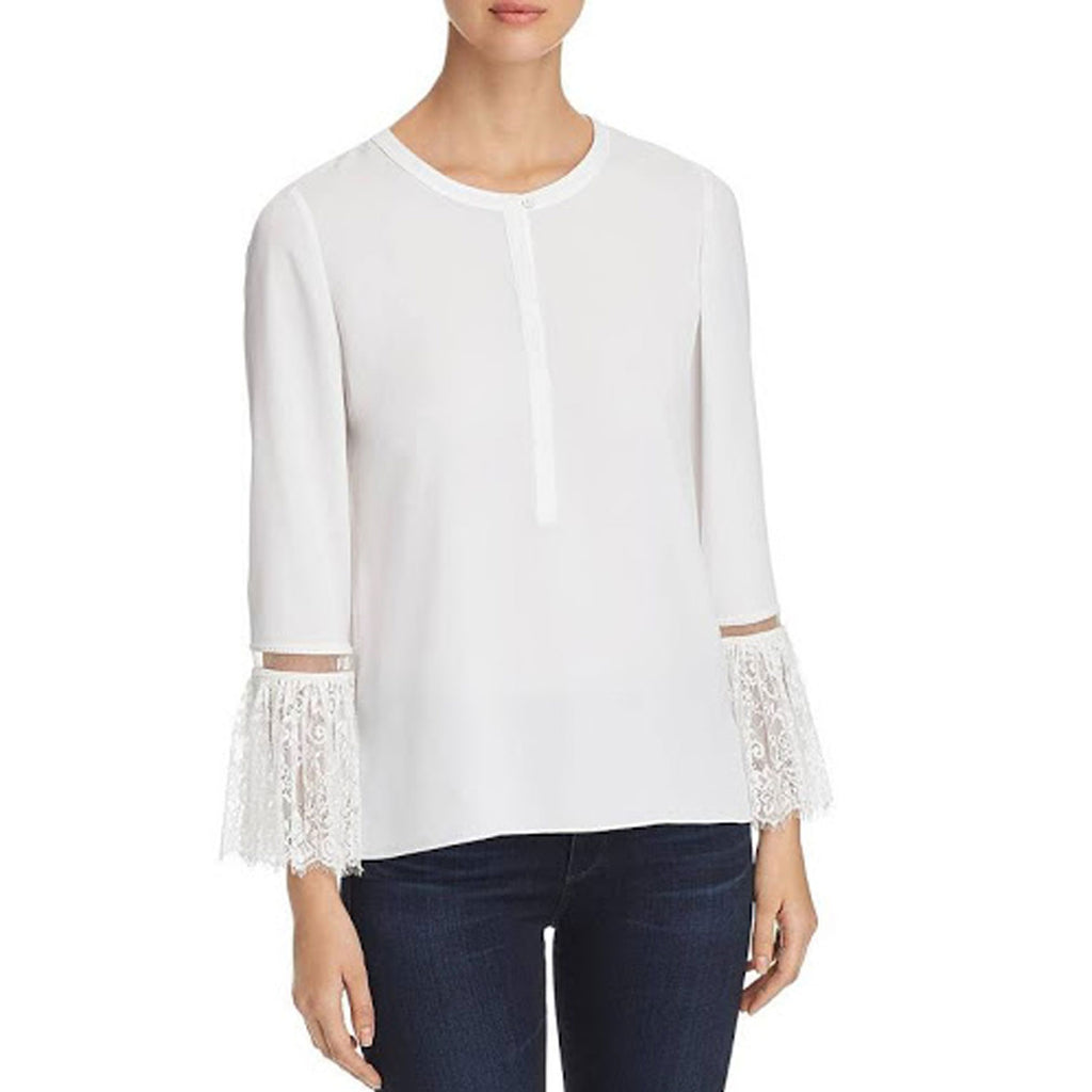 Le Gali White Tarah Lace Blouse Size Large Muse Boutique Outlet | Shop Designer Clearance Tops on Sale | Up to 90% Off Designer Fashion