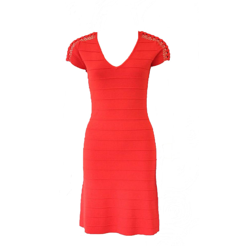 Leo & Ugo Red Fit & Flare Knit Dress Size 0 Muse Boutique Outlet | Shop Designer Clearance Dresses on Sale | Up to 90% Off Designer Fashion