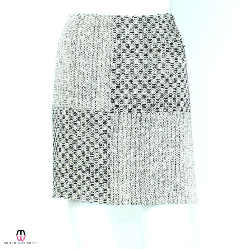 Leona by Lauren Leonard Black/White Black & White Checker Skirt Size 8 Muse Boutique Outlet | Shop Designer Clearance Skirts on Sale | Up to 90% Off Designer Fashion