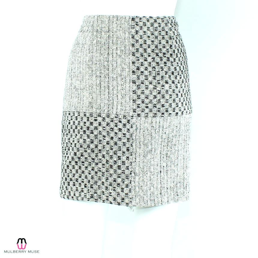 Leona by Lauren Leonard  Black & White Checker Skirt Size  Muse Boutique Outlet | Shop Designer Clearance Skirts on Sale | Up to 90% Off Designer Fashion