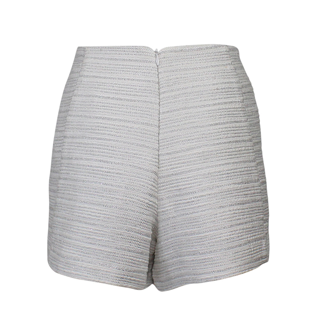 Leona by Lauren Leonard  Metallic Tweed Silk Short Size  Muse Boutique Outlet | Shop Designer Clearance Shorts on Sale | Up to 90% Off Designer Fashion