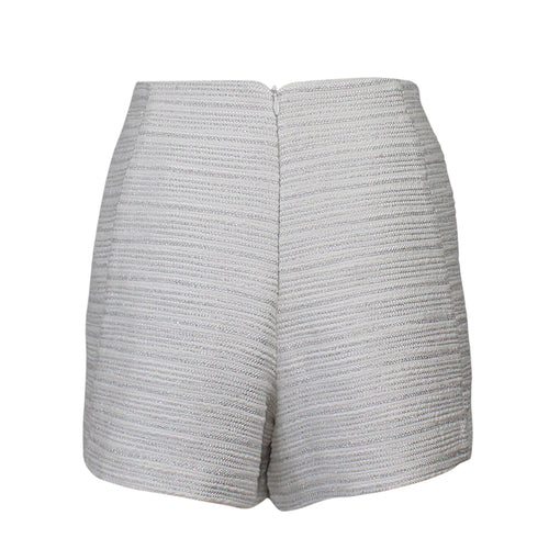 Leona by Lauren Leonard Metallic Tweed Silk Short   Muse Boutique Outlet