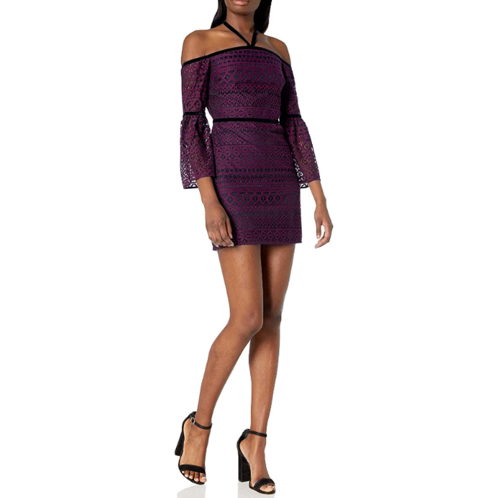 Likley Plum Lace Off the Shoulder Cocktail Dress Size 0 Muse Boutique Outlet | Shop Designer Dresses on Sale | Up to 90% Off Designer Fashion