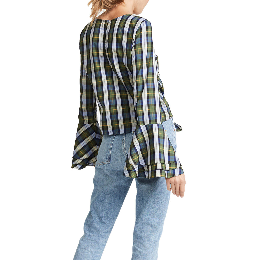 Likely  Plaid Tie Waist Top Size  Muse Boutique Outlet | Shop Designer Long Sleeve Tops on Sale | Up to 90% Off Designer Fashion