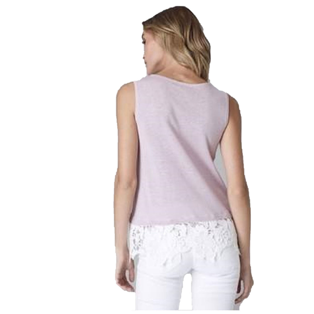 Lisa Todd  Allure Linen Top with Lace Trim Size  Muse Boutique Outlet | Shop Designer Sleeveless Tops on Sale | Up to 90% Off Designer Fashion